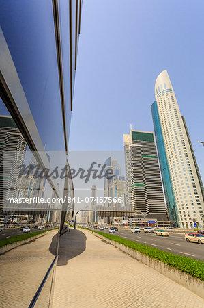 Sheikh Zayed Road, Dubai, United Arab Emirates, Middle East