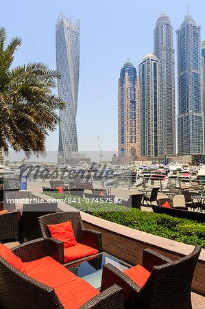 Cayan Tower in Dubai Marina, Dubai, United Arab Emirates, Middle East
