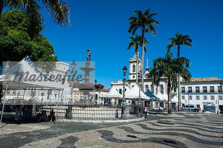 16 do novembro Square in the Pelourinho, UNESCO World Heritage Site, Salvador da Bahia, Bahia, Brazil, South America
