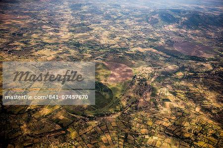 Aerial landscape, Kenya, East Africa, Africa