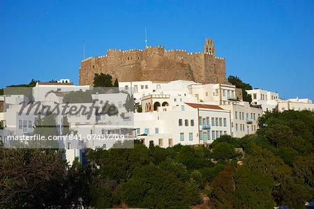 Agios Ioanis Theologos (Monastery of St. John the Theologian), UNESCO World Heritage Site, Patmos, Dodecanese, Greek Islands, Greece, Europe
