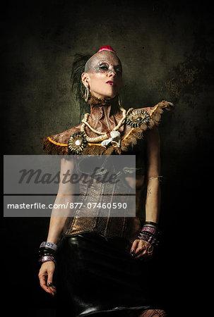 Alternative Fashion portrait of woman