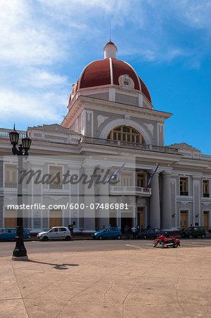 The Town Hall in Parque Jose Marti, Cienfuegos, Cuba, West Indies, Caribbean