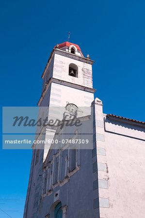 Close-up of Iglesia Parroquial Mayor del Espiritu Santo, Sancti Spiritus, Cuba, West Indies, Caribbean