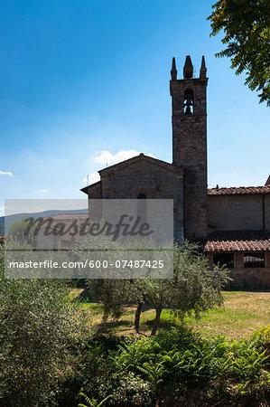Church of Santa Maria Assunta, Monteriggioni, Chianti Region, Province of Siena, Tuscany, Italy
