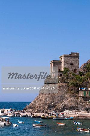 Torre Aurora, Monterosso, Cinque Terre, La Spezia District, Italian Riviera, Liguria, Italy