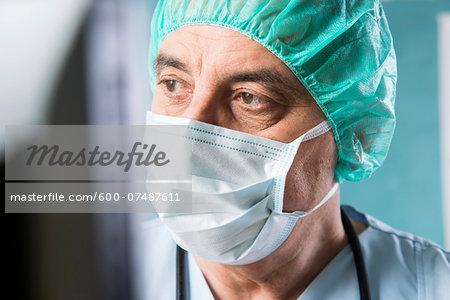 Close-up of Surgeon at Computer