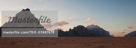 Mountains of Wadi Rum, Seven Pillars of Wisdom, Jordan