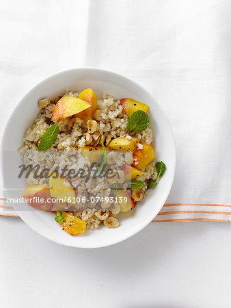 Minted Bulgur and Peach Salad