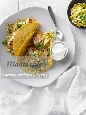 Shrimp Tacos With Corn Salsa