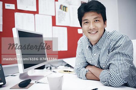 Portrait of a entrepreneur in his business