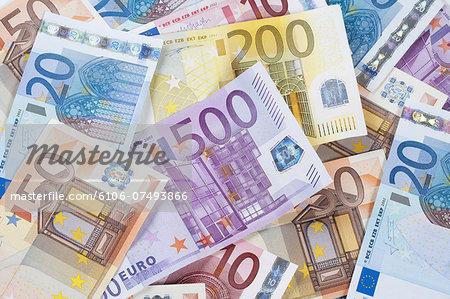 Euro - EU banknotes.