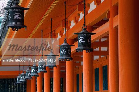 Lanterns, Heian Shrine, Kyoto, Japan