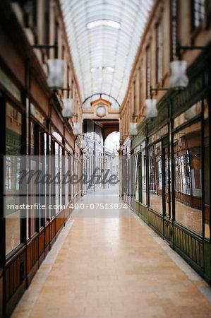 Beautiful Parisian shopping gallery -