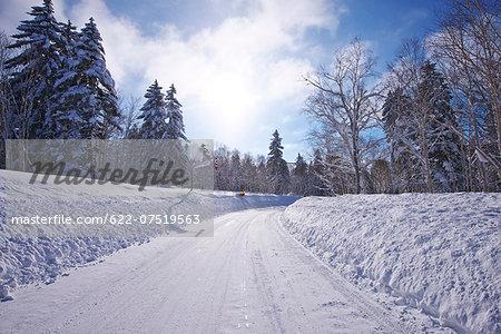 Snow in Hokkaido, Japan