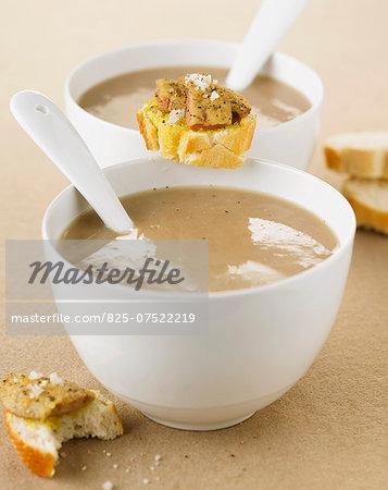 Cream of chestnut soup with foie gras