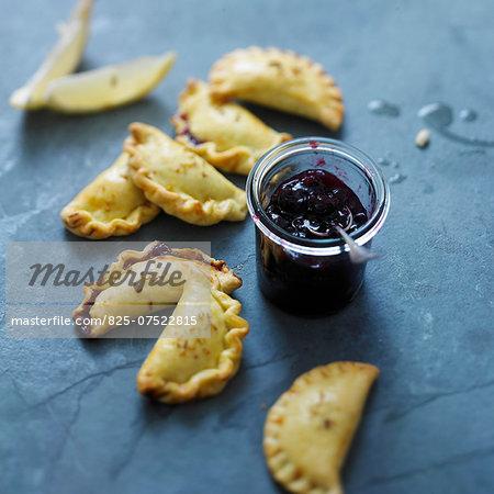 Black cherry, ricotta and lemon turnovers