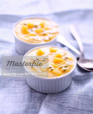 Mango-passionfruit mousse