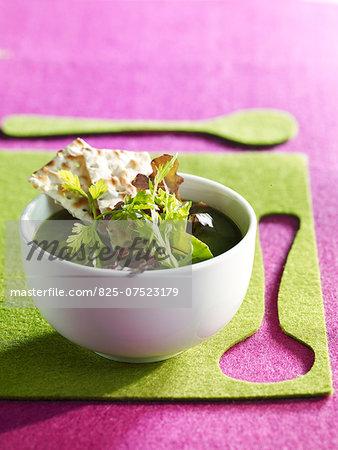 Mesclun soup