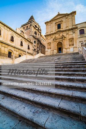 Church of San Francesco d'Assisi, Piazza Immacolata, Noto, Val di Noto, UNESCO World Heritage Site, Sicily, Italy, Europe