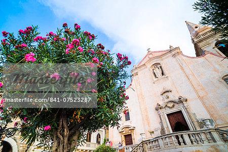 Church of St. Joseph at Piazza IX Aprile, Taormina, Sicily, Italy, Europe