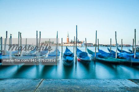 Gondolas, Venice, UNESCO World Heritage Site, Veneto, Italy, Europe