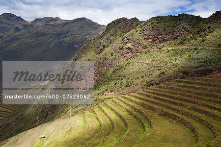 Ruins at Pisac, Sacred Valley of the Incas, Cusco Region, Peru