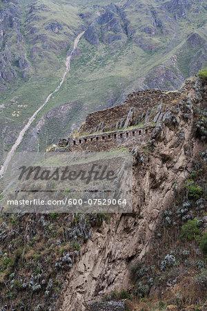 Ruins at Ollantaytambo, Sacred Valley of the Incas, Cusco Region, Peru