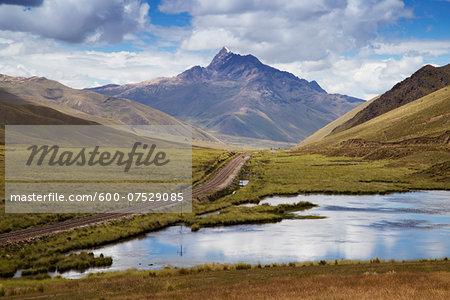 Train Tracks through Altiplano Region, Peru