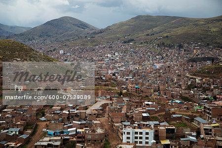 Overview of Cityscape, Puno, Peru