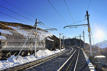 Gornergrat Railway Tracks