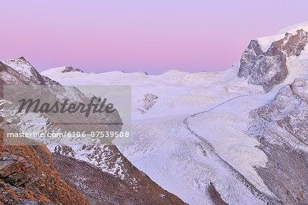 Gorner Glacier and Monte Rosa Mountain