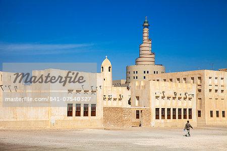 Mosque and Fanar Qatar Islamic Cultural Center, Doha, Qatar, Middle East