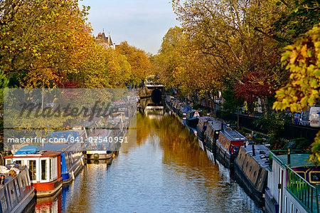 Canal boats, Little Venice, London W9, England, United Kingdom, Europe