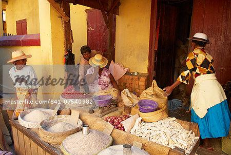 Local market, Betsileo city, Ambositra, Madagascar, Africa