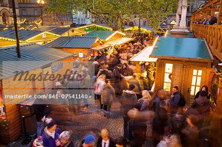 Christmas Market, Albert Square, Manchester, England, United Kingdom, Europe