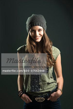 Portrait of Teenage Girl, Studio Shot
