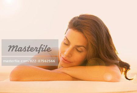 Close up of Woman Sunbathing