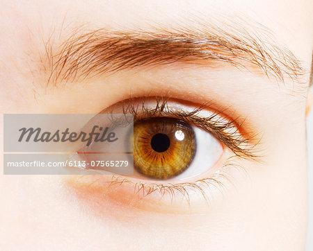 Extreme close up of hazel eyes
