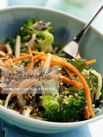 A bowl of vegetarian wild rice salad