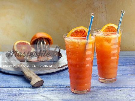 Blood orange ginger ale