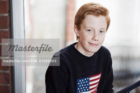Portrait of confident high school boy