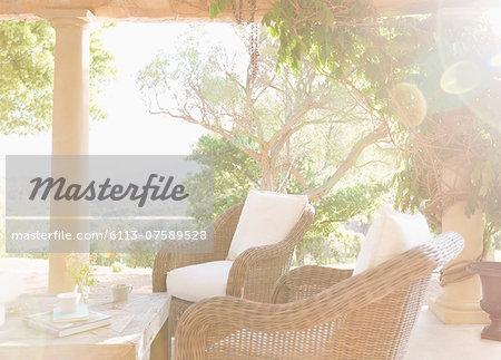 Sunny luxury patio