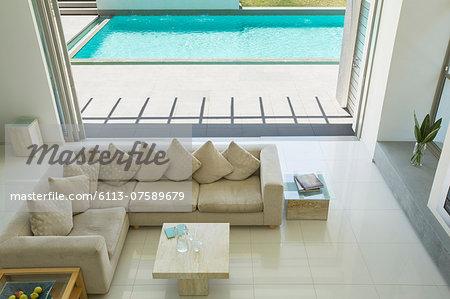 Sunny modern living room