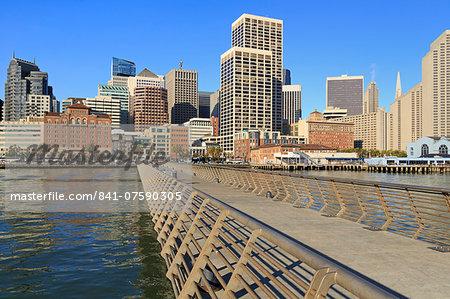 Pier 14 on the Embarcadero, San Francisco, California, United States of America, North America