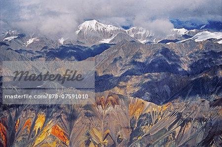 Wrangell Mountains, aerial view, Wrangell-St. Elias National Park, Alaska