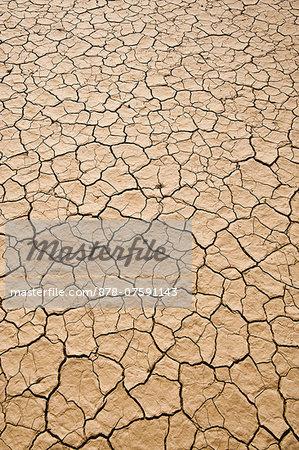 Cracked mud, Sossusvlei, Namib-Naukluft National Park, Namibia