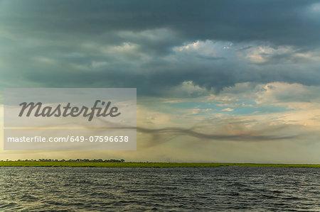 Stormy sky, Kasane, Chobe National Park, Botswana, Africa