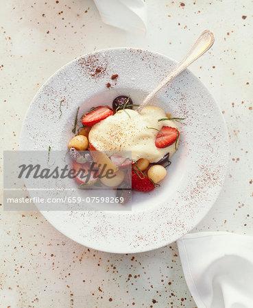 Zabaglione with fresh fruits (Italy)