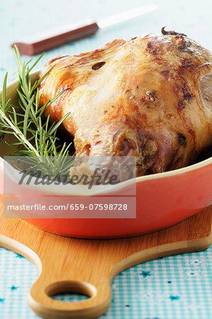 Roast leg of lamb with rosemary